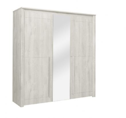 Eden 3 Door Wardrobe Bleached Oak